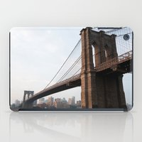 brooklyn bridge iPad Cases featuring Brooklyn Bridge by Leslie Philipp