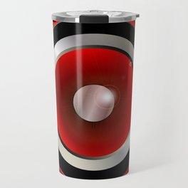 Red Speaker Cone Travel Mug