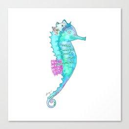 Aqua Sea Dragon Canvas Print