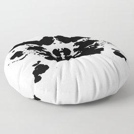 abstract rorschach type ink spots Floor Pillow