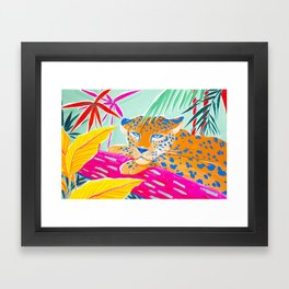 Vibrant Jungle Framed Art Print