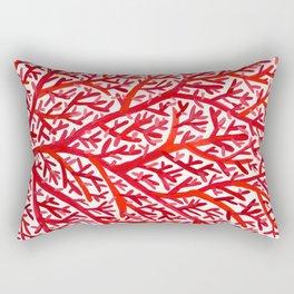 Red Fan Coral Rectangular Pillow