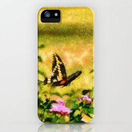 Three Giant Swallowtails - Monet Style iPhone Case