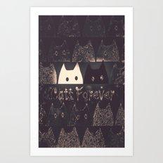 cats-60 Art Print