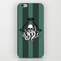 cthulhu iPhone & iPod Skins featuring Cthulhu by MyOwlHasAntlers