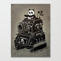 panda Canvas Prints featuring Panda by Ronan Lynam