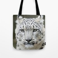 leopard Tote Bags featuring Leopard by WonderfulDreamPicture
