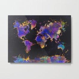 world map 128 #worldmap #map Metal Print
