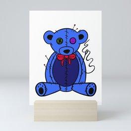 Blue Teddy Mini Art Print