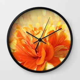 Glowing Marigold Wall Clock