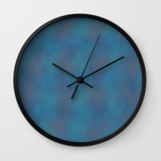 Soft Blue Wall Clock