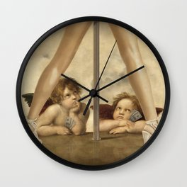 Not so Little Angels Wall Clock