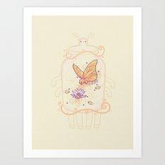 Butterfly bear Art Print