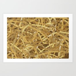 Full of gold chains Art Print