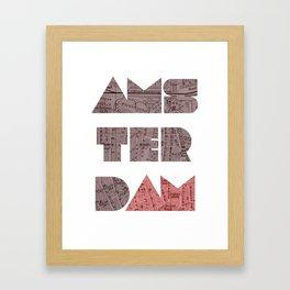 AMSTERDAM (Blok Series) Framed Art Print