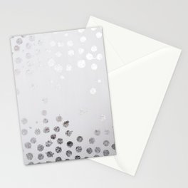 Silver and White Stationery Cards