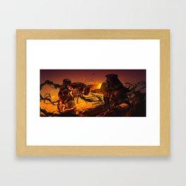 Mój jest ten kawałek podlogi. Framed Art Print