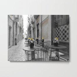 Girona Street Metal Print