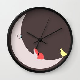 Moon love Wall Clock