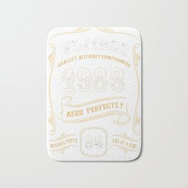 34th-Birthday-Gift-Gold-Vintage-1983-Aged-Perfectly Bath Mat