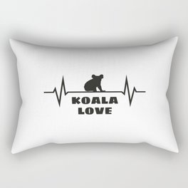Koala Heartbeat Rectangular Pillow