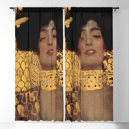JUDITH AND THE HEAD OF HOLOFERNES - GUSTAV KLIMT Blackout Curtain