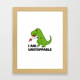 I am Unstoppable T-rex Framed Art Print