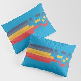 Classic 80s Video Game Style Retro Stripes Pixel Drops - Akiko Pillow Sham