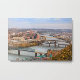 Monongahela River - Pittsburgh, Pennsylvania Metal Print