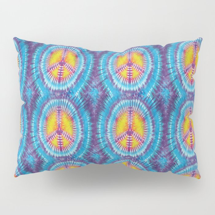 Summer Vibes Tie Dye in Peace Sign Pillow Sham