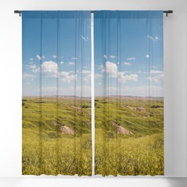 In the Midde of the Badlands Prairie Blackout Curtain