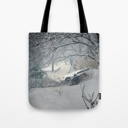 Central Park Snow Storm Tote Bag