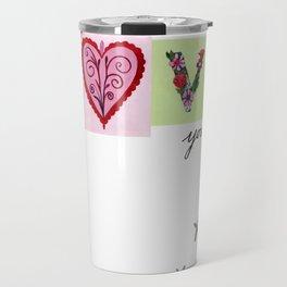 LOVE letters - LOVE you heaps Travel Mug