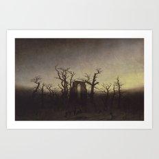 Abbey among Oak Trees by Caspar David Friedrich Art Print