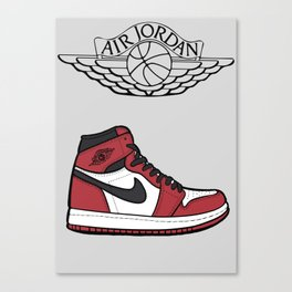 Jordan 1 Illustration Canvas Print