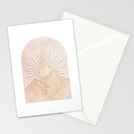 Pastel tone abstract landscape Stationery Cards
