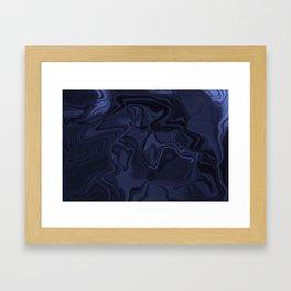 Blue and Black Abstract Artwork Framed Art Print