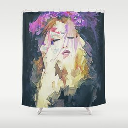 Path - Abstract Portrait Shower Curtain