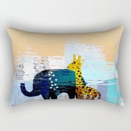Giraffe & Elephant Mirage Rectangular Pillow