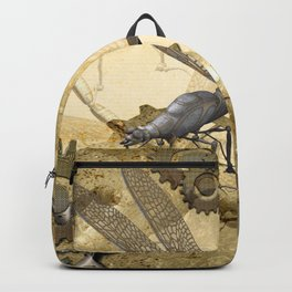 Steampunk, dragonflies Backpack