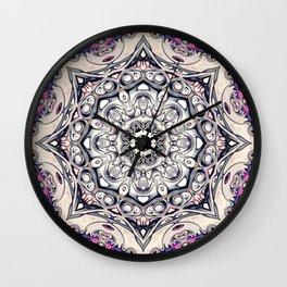 Abstract Octagonal Mandala Wall Clock