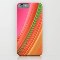 Peach Apricot Mango Bold Stripes Slim Case iPhone 6s