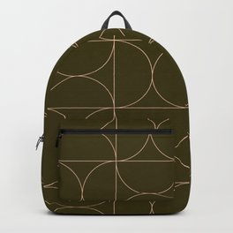 mid century modern geometric 5j Backpack