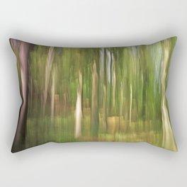 Abstract green forest Rectangular Pillow