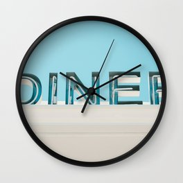 Diner fluo Wall Clock