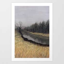 Just Before the Bridge, Just After Autumn Art Print