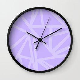 Shards in Purple Wall Clock