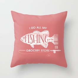 Fishin' Fo' Life Throw Pillow