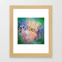 Abstract MUSIC Framed Art Print
