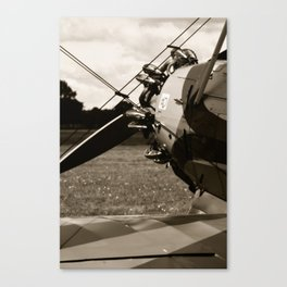Black'n White Biplane Canvas Print